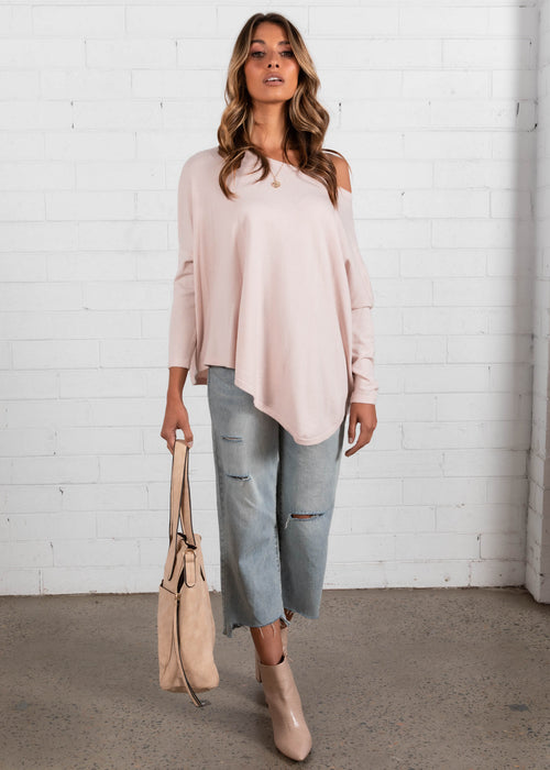 Bellflower Lightweight Sweater - Blush