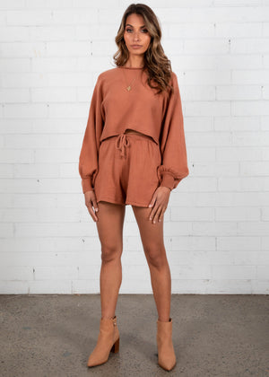 Adriana Knit Set - Rust