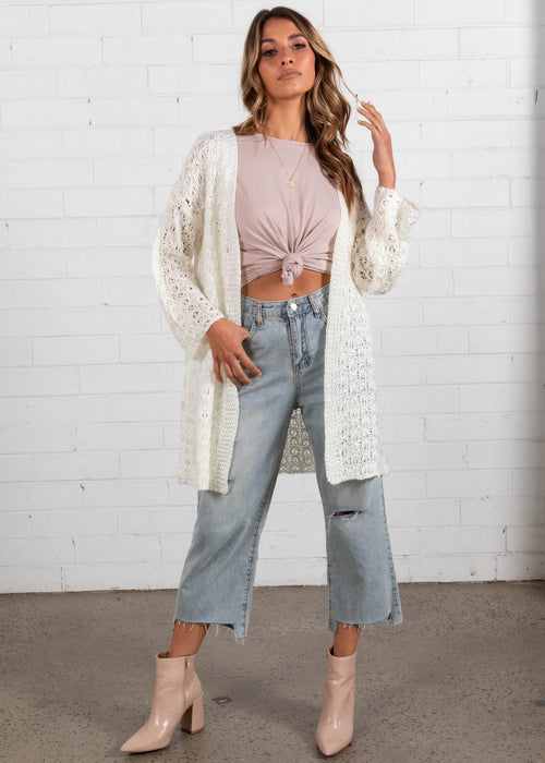 Ride Of Life Cardi - Cream