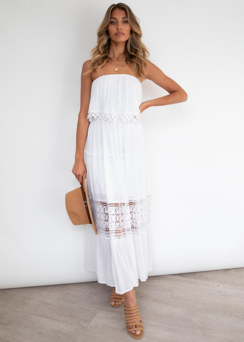Steps Apart Maxi Dress - Off White