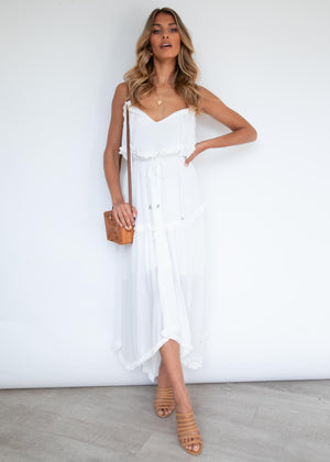 Naviti Midi Dress - White