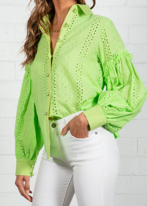 Charlotte Shirt - Lime Green