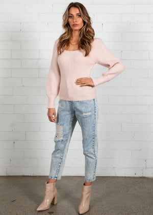 Charlee Knit Top - Blush