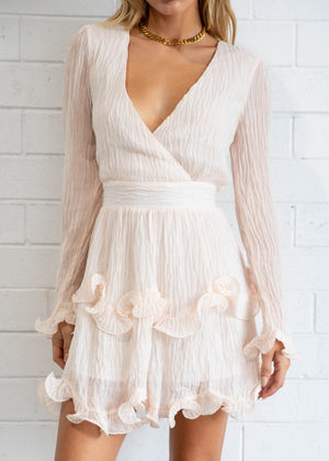 Stay The Night Dress - Shell Pink