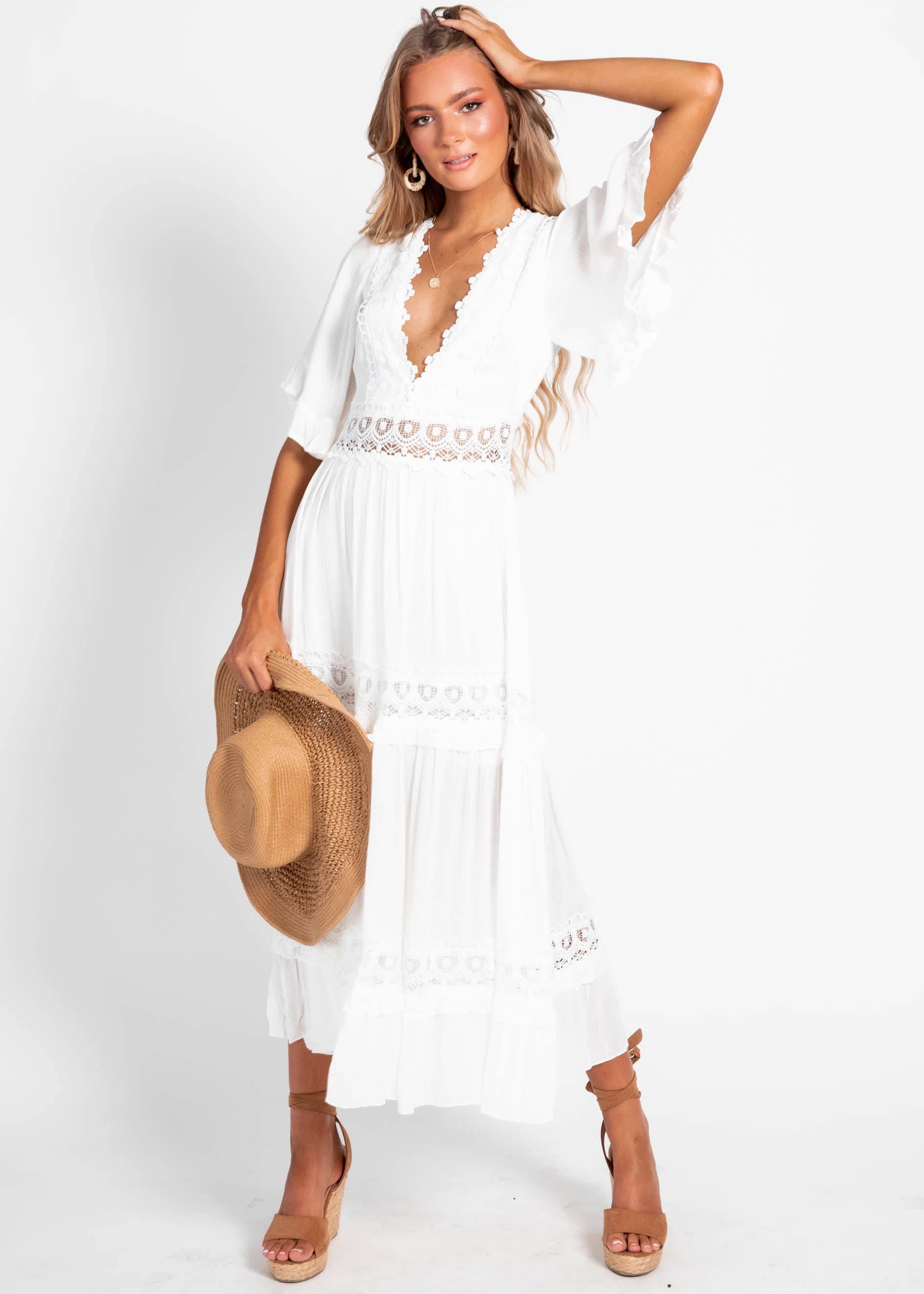 Jelena Midi Dress - White
