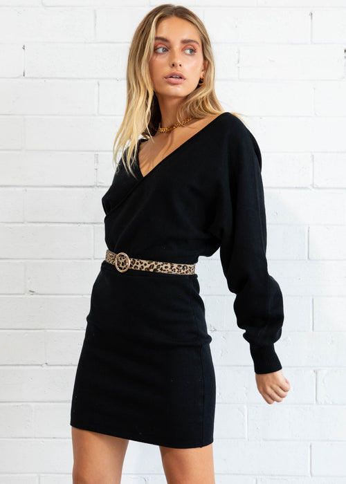 Lounge Life Knit Dress - Black