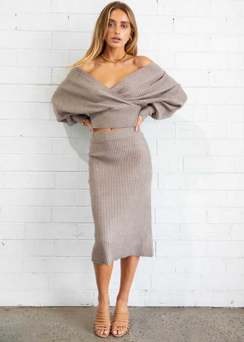 Just Like That Knit Set - Mocha