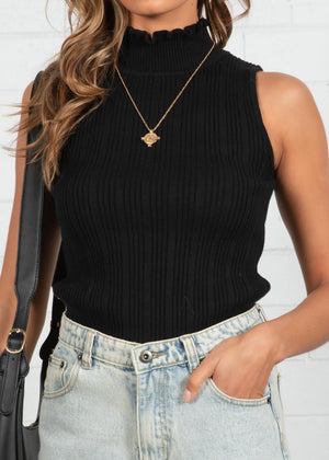 City Walks Knit Top - Black