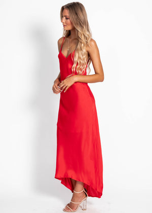 Can't Control Midi Dress - Red