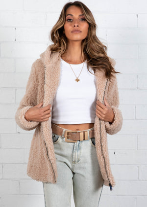 Wide Awake Teddy Jacket - Beige