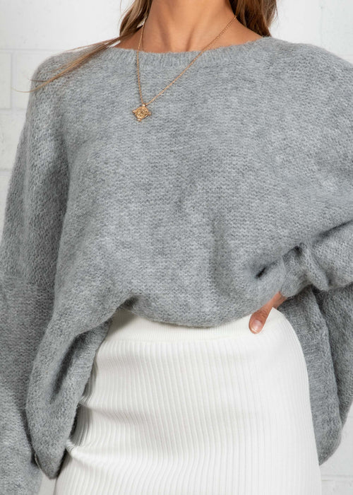 Crew Love Sweater - Grey