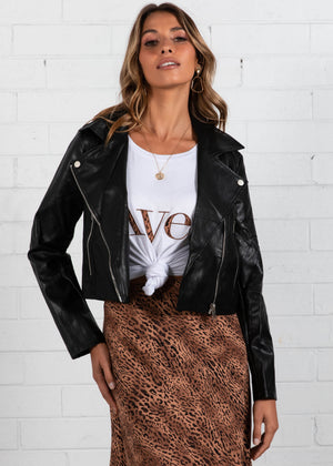 Jocey Biker Jacket - Black