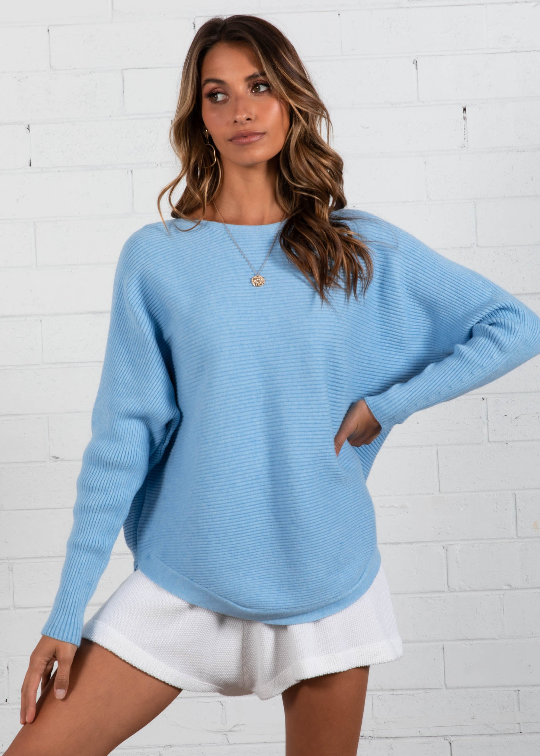 Better With You Sweater - Blue