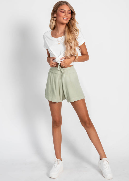 Archie Knit Shorts - Mint