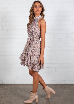 Sweet Impact Swing Dress - Cream Floral