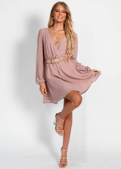 Wishful Thinking Dress - Mauve