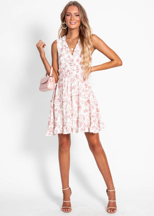 Marinella Dress - White Floral