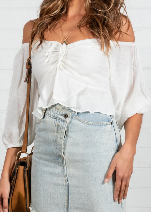 Milah Off Shoulder Top - Off White