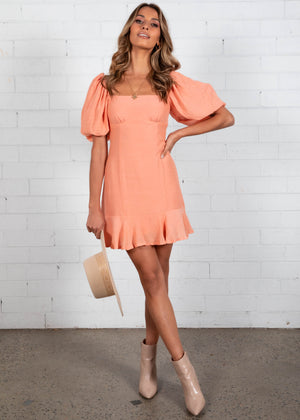 Bittersweet Mini Dress - Peach