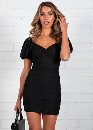 Mexican Sky Mini Dress - Black