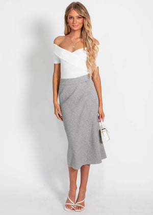 Lucci Knit Skirt - Grey