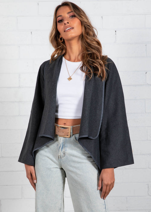 Clover Jacket - Charcoal