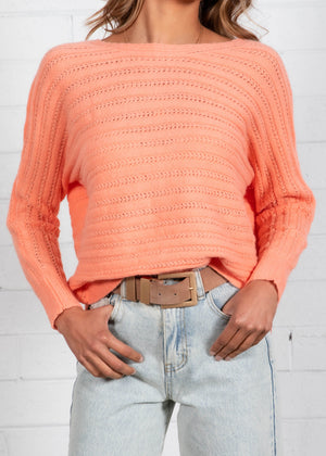 Hensely Sweater - Coral