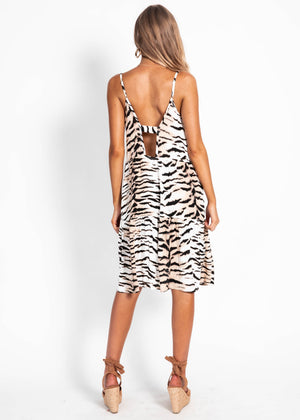 Tavi Dress - White Tiger