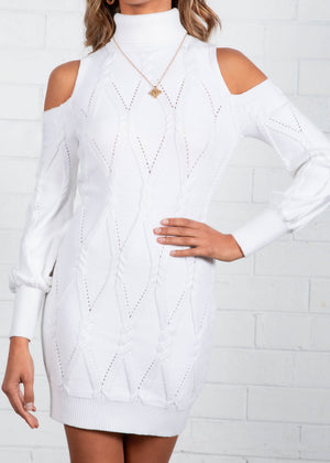 Leni Knit Dress - White