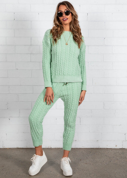 Plush Living Knit Set - Mint