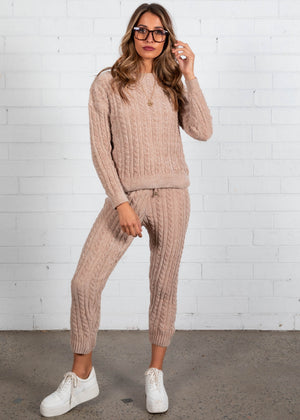 Plush Living Knit Set - Camel
