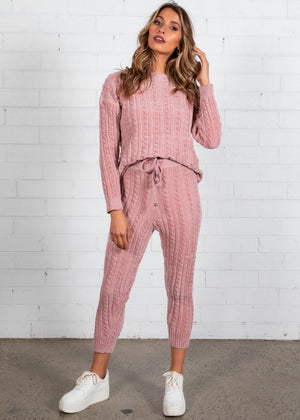Plush Living Knit Set - Blush