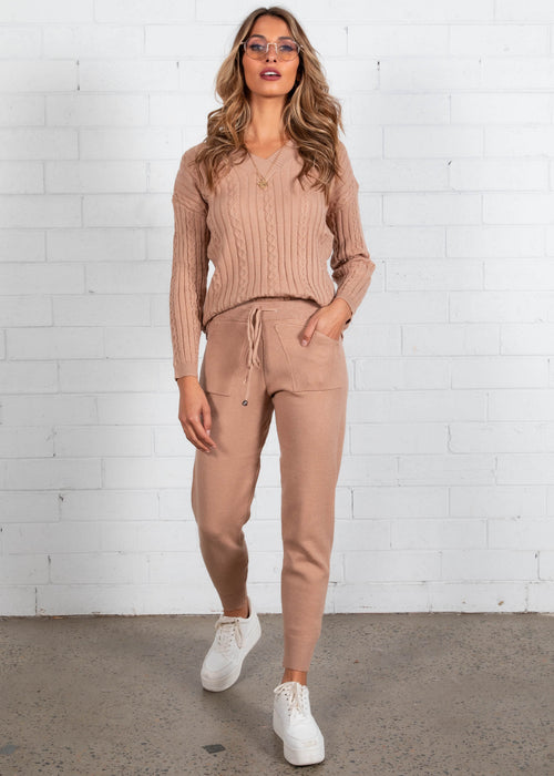 Mollie Knit Set - Camel