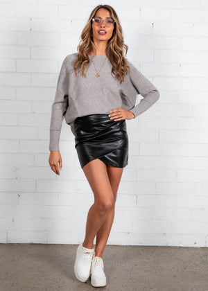 Galore PU Skirt - Black