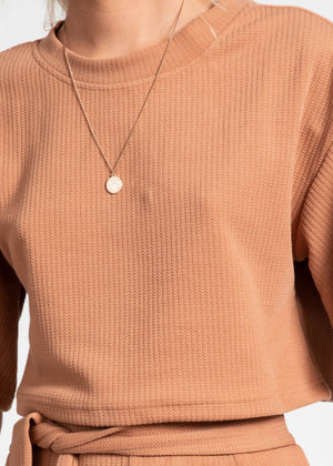 Kai Boxy Knit Top - Tan