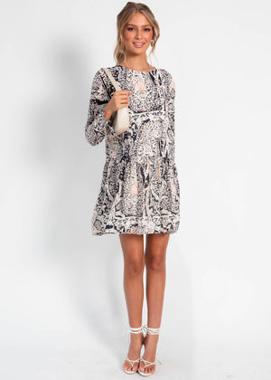 Dancing On My Own Dress - Navy Paisley