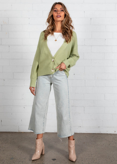 More Than Friends Cardi - Mint