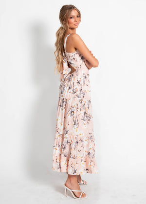 Reason To Smile Maxi Dress - Blush Floral