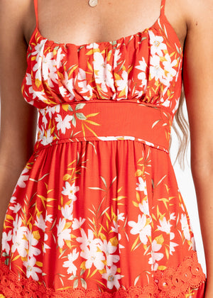 Good For The Soul Dress - Red Floral