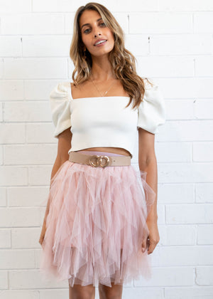 Mystic Views Mini Skirt - Blush