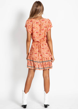 Aoki Swing Dress - Coral Dream