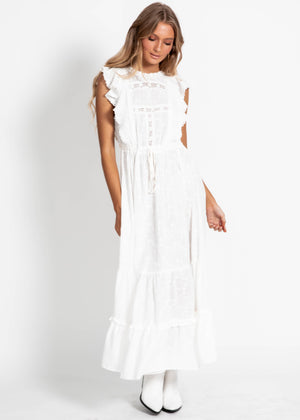 Maca Maxi Dress - Leora Embroidered