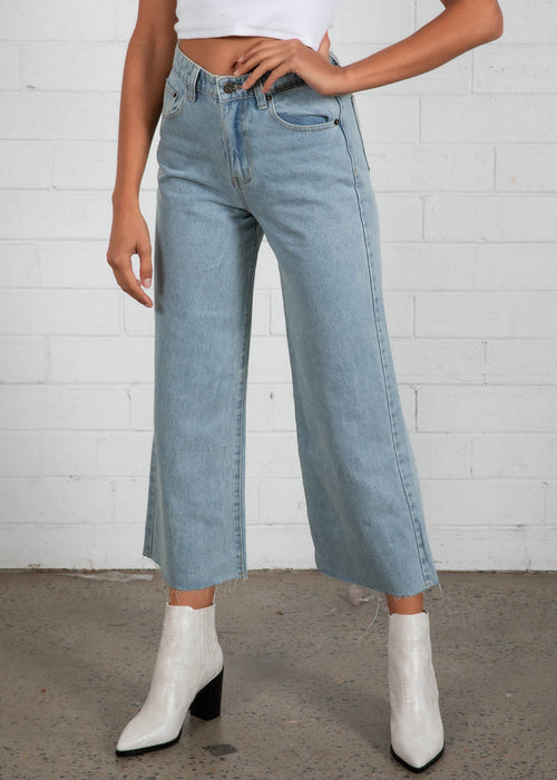 Duran Wide Leg Jeans - Light Blue