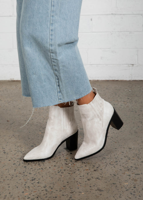 Billie Ankle Boot - White Gecko