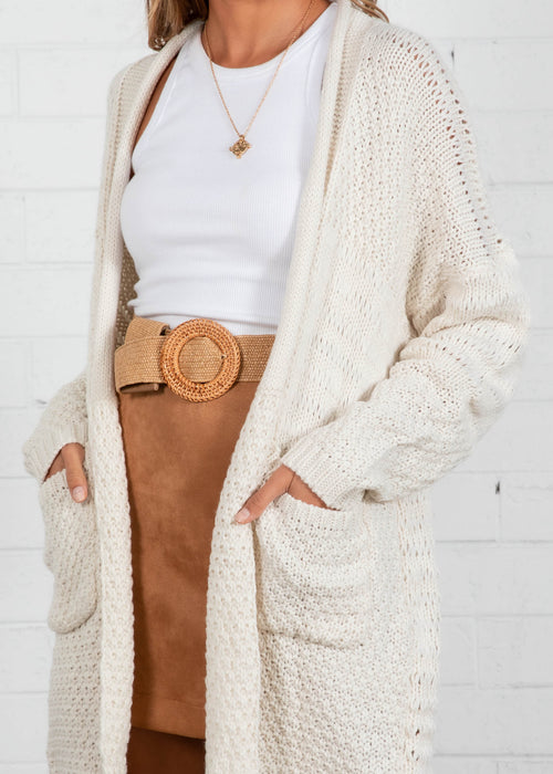 Crystal Heart Cardigan - Ivory