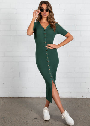 Fontana Knit Dress - Emerald