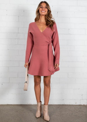 Stoneheart Knit Dress - Rose