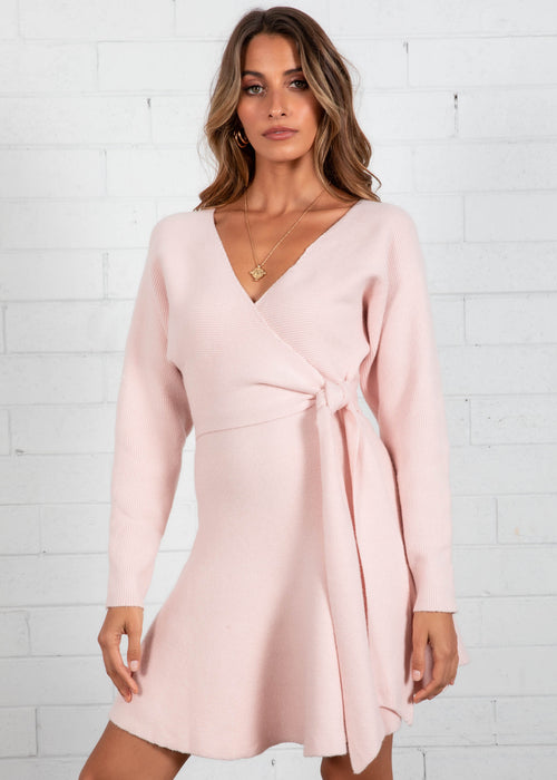 Stoneheart Knit Dress - Blush