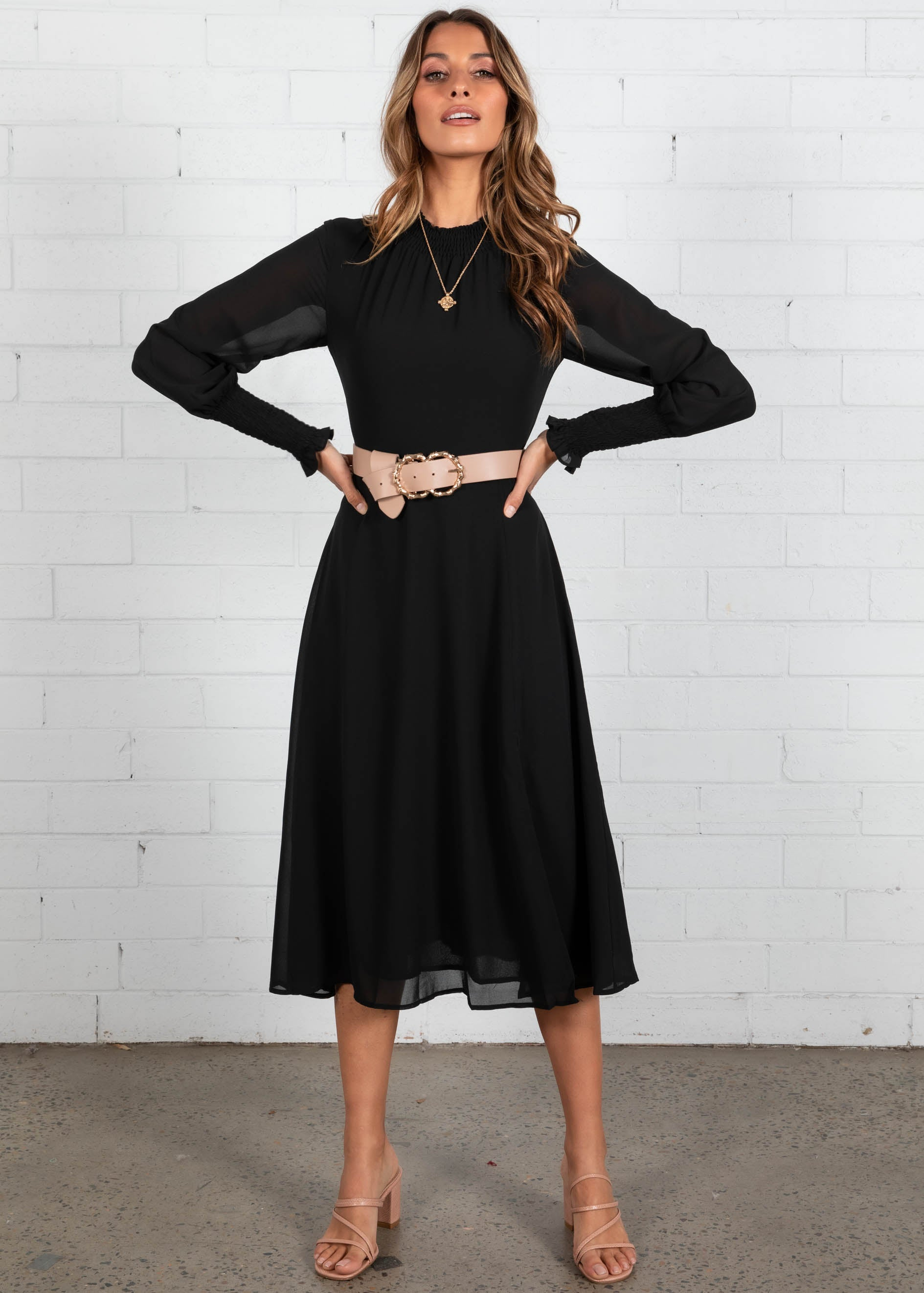 Lost Days Midi Dress - Black