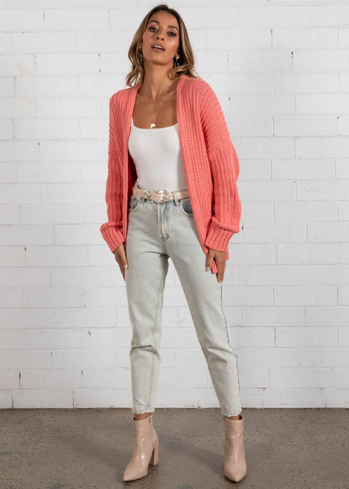 Free As a Bird Cardigan - Coral